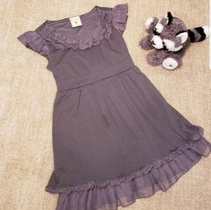 ❄3 for $18 Soft Gray Ruffle Dress Lemon Figg